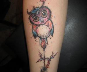 arm, graphic, and owl image