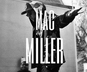 mac miller, black and white, and dope image