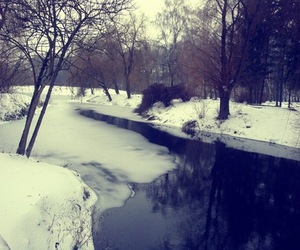 river, ice, and snow image