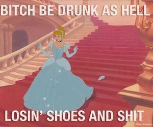 cinderella, drunk, and funny image