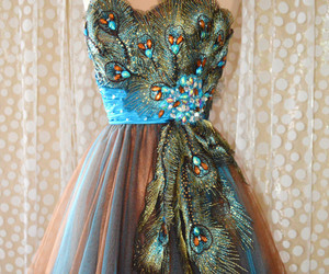 dress and peacock image