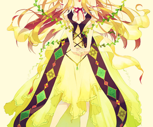 anime, yellow, and prettie image