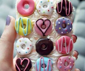 donuts, iphone, and phone case image