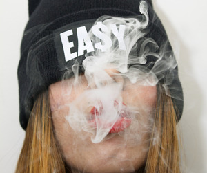 smoke, girl, and Easy image