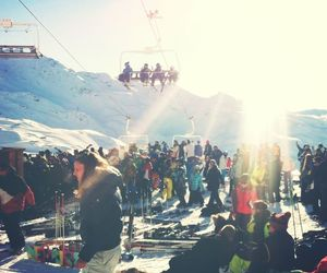 people, Skiing, and snow image