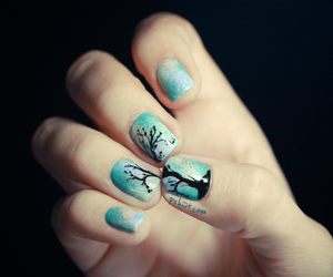 nails, tree, and fashion image
