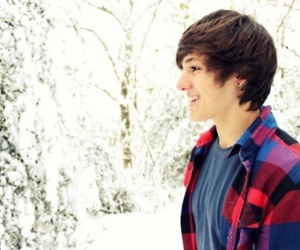 boy, snow, and hair image