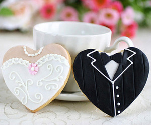wedding, Cookies, and bride image