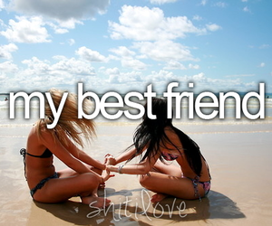 best friends, friends, and beach image