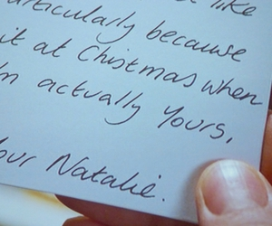 Letter, love actually, and natalie image