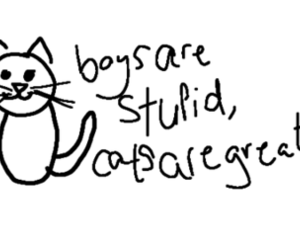 cat and boys image