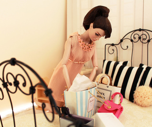 barbie, haute couture, and shopping image