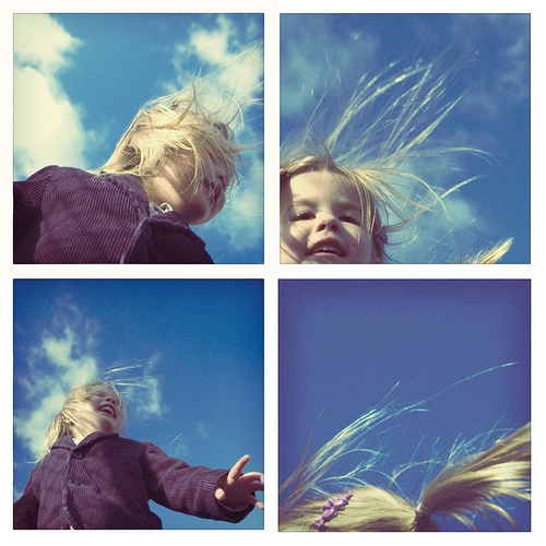 children, happiness, and sky image
