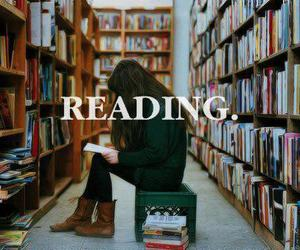 book, reading, and library image