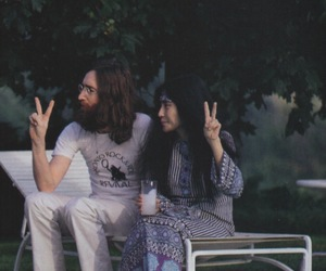 john lennon, peace, and love image