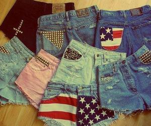 shorts, jeans, and usa image