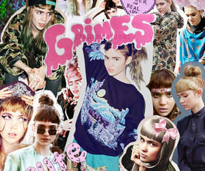 grimes, Collage, and claire boucher image
