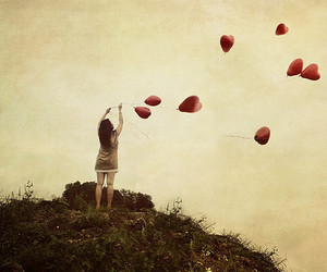 heart and balloons image