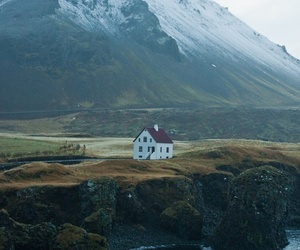 house, mountains, and nature image