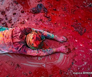 art, colors, and red image