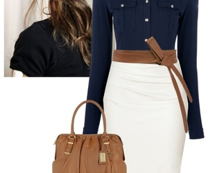 bag, blouse, and hair image