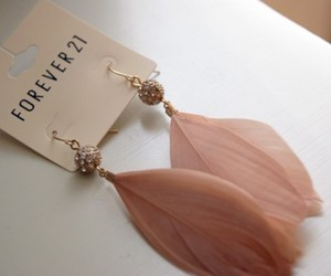 earrings, forever 21, and feather image