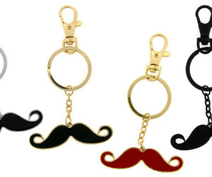 mustache key chains image