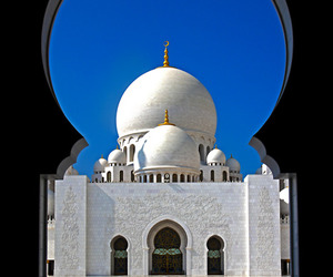 dome, abu dhabi, and arches image