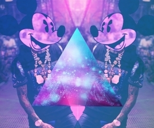 mickey, galaxy, and swag image