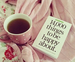 book, happy, and pink image