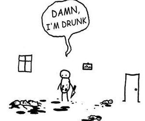 damn, drunk, and funny image