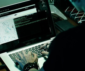 hacker and girl with dragon tattoo image