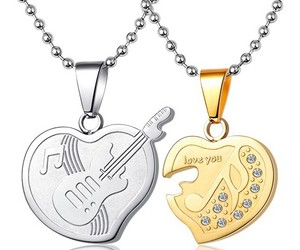 gullei.com, couples name necklaces, and name inscribed necklaces image