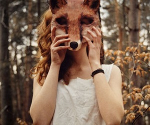 fox, girl, and hipster image