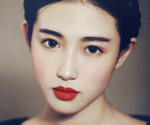 asian, beauty, and red image