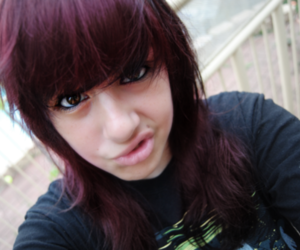 girl, red hair, and adtr top image