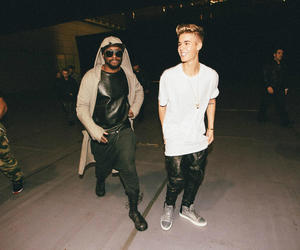 justin bieber, will.i.am, and justin image