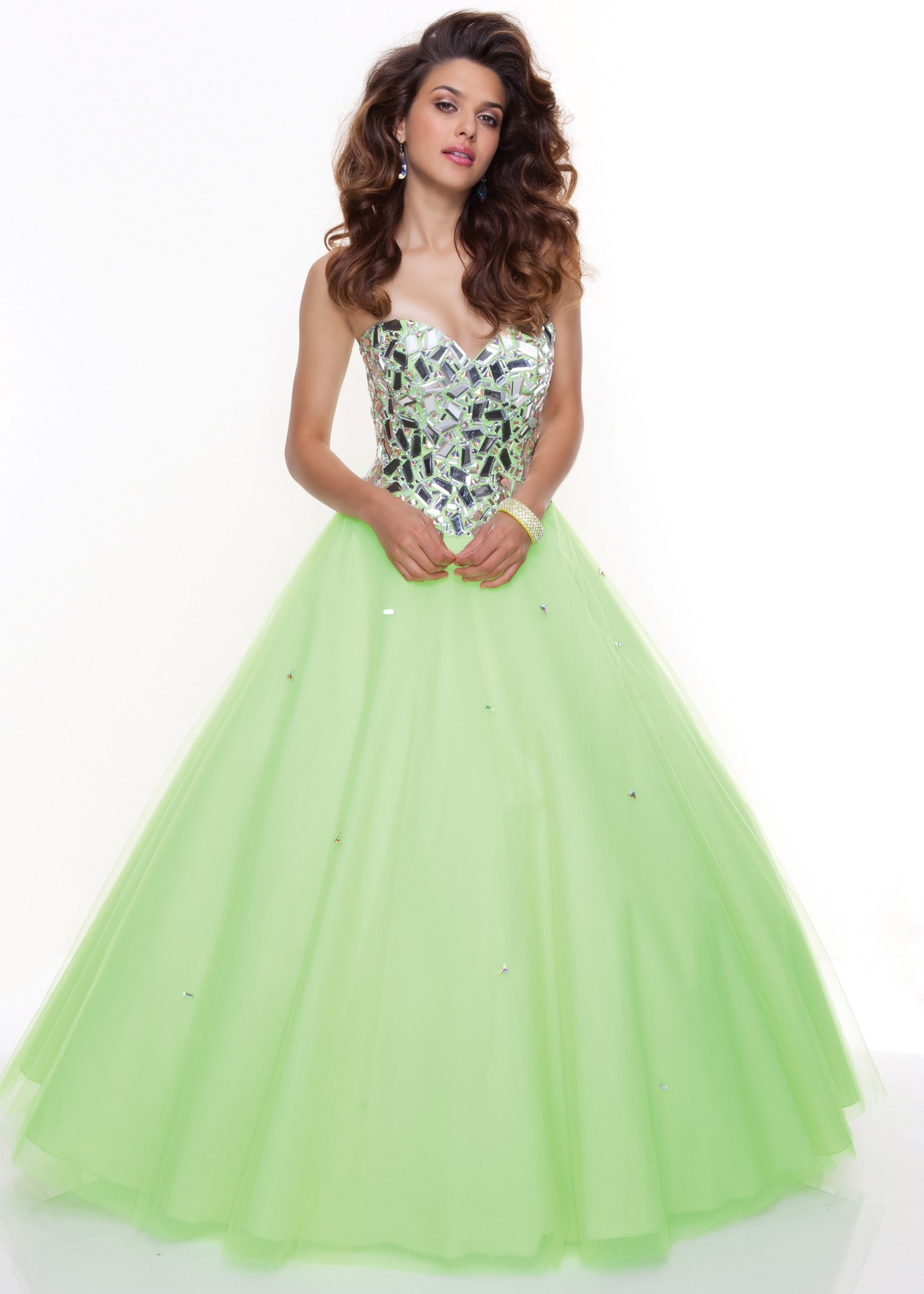 Paparazzi by Mori Lee 93091 - Strapless Green Ball Gown Dress, 2013 ...