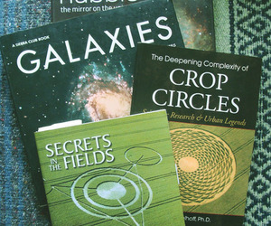 blue, books, and crop circles image
