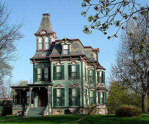 house, old, and victorian image