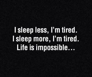 sleep, life, and tired image