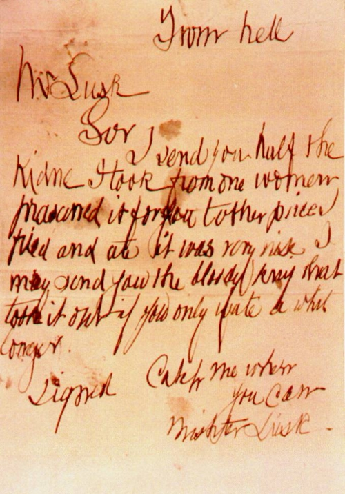 jack the ripper and Letter image