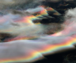 clouds, rainbow, and grunge image