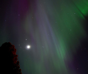 finland, northern lights, and space image