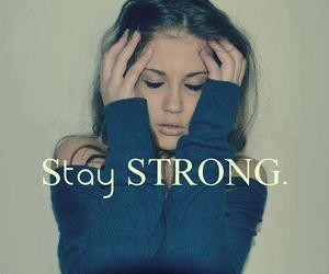 strong and text image
