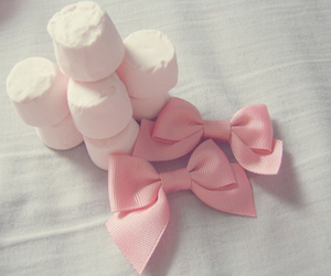 pink, bow, and marshmallow image