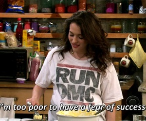 quote, success, and 2 broke girls image