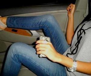 car, girl, and YSL image