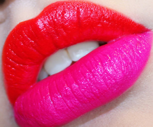 red, lips, and pink image