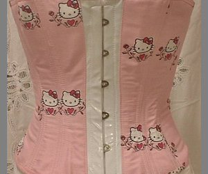 corset and hello kitty image